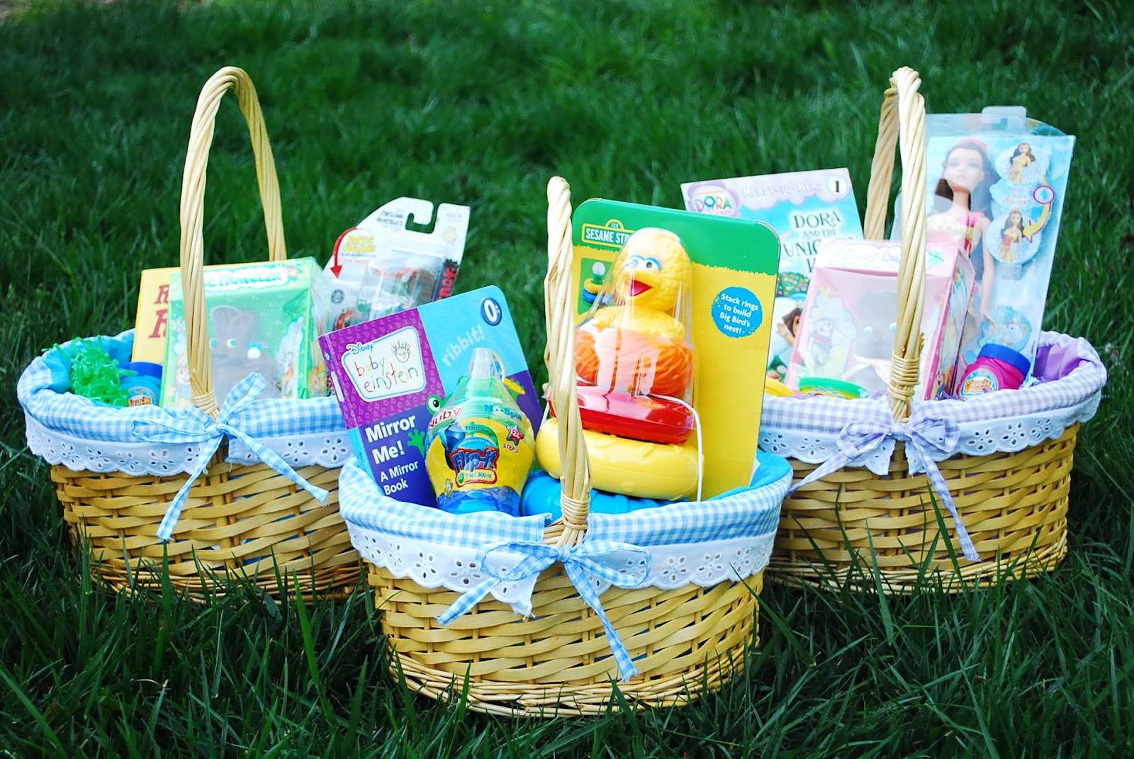 Easter basket ideas needless to say i have a lot of fun putting together gift baskets for my kids to celebrate major holidays as well i dont like to spend much but every once negle Images