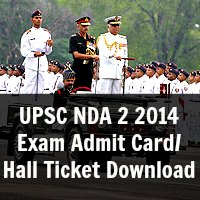 UPSC NDA Exam Admit Card 2014