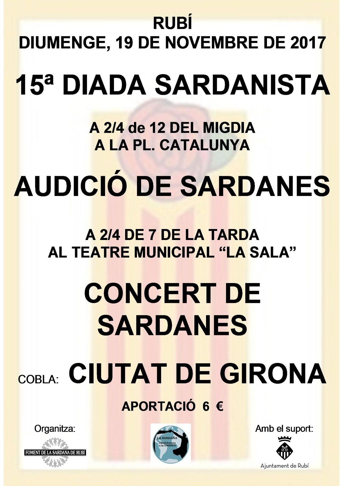 15ª Diada Sardanista, Audició i Consert de Sardanes