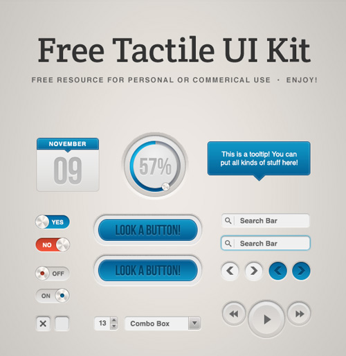 25 Free Web UI Design PSD Web Elements