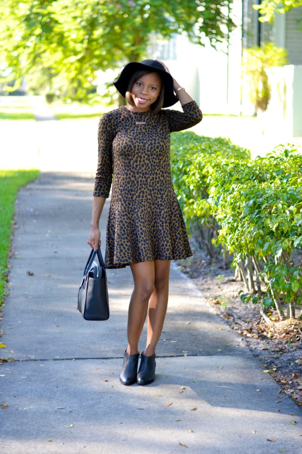 LOFT Animal Print Dress | Fall Outfit Ideas