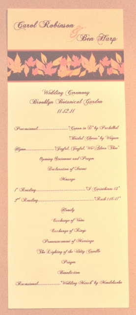 Autumn Wedding Programs4