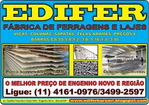 EDIFER FÁBRICA DE FERRAGENS E LAJES