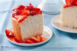 orange angel food cake strawberry