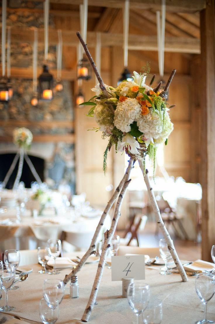 27 centros de mesa para bodas consigue una boda de cuento - Centro de mesa rustico ...