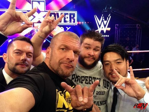 The New Kliq With Triple H, Kevin Steen, Prince Devitt And Kenta.