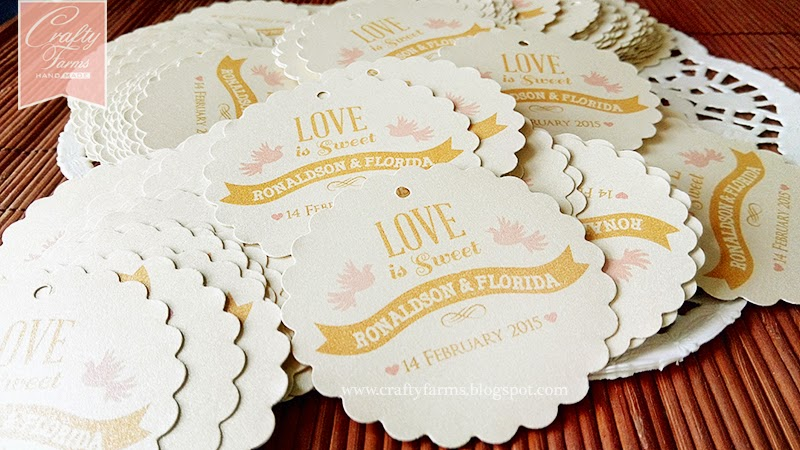 Love is Sweet Door Gift Tags Malaysia