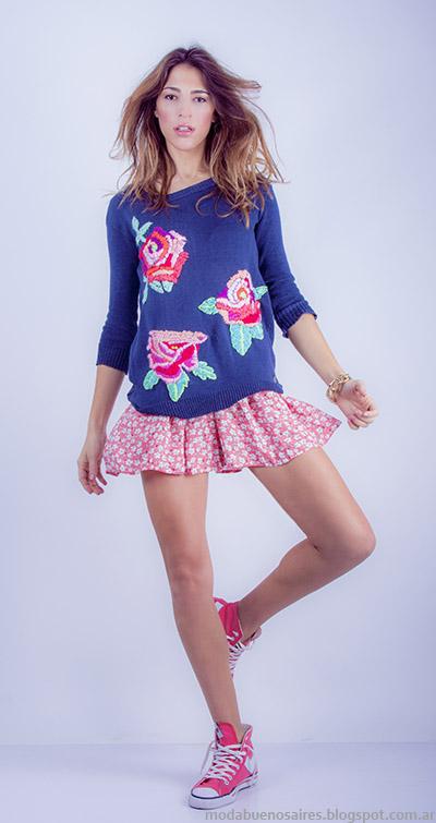 Sweaters de hilo mangas 3/4 moda Linda Canaria.