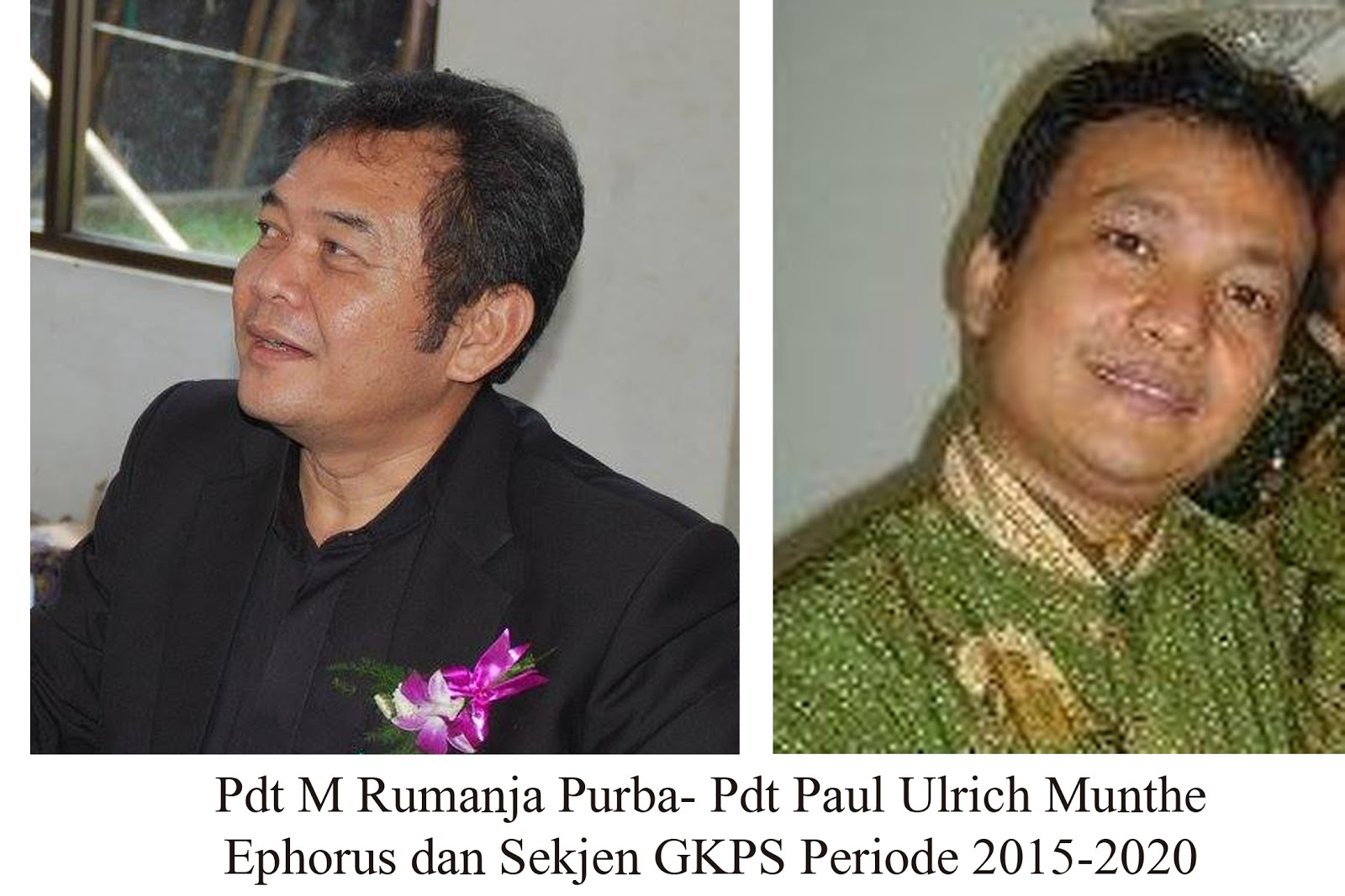 Duet Pdt M Rumanja Purba- Pdt Paul Ulrich Munthe Nahkodai GKPS Periode 2015-2020