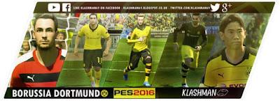 PES 2016 Borussia Dortmund 2015/16 Kitpack by Klashman69