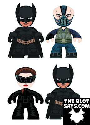 Batman, Bane & Catwoman The Dark Knight Rises 2 Inch Mini Mez-Itz Vinyl Figures by Mezco Toyz