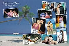 photo collage puzzle from beach memories
