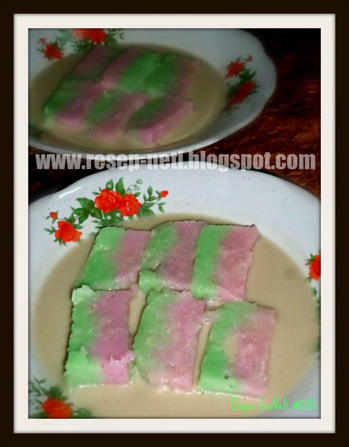 Rainbow Jongkong cake recipe at kusNeti kitchen @2015