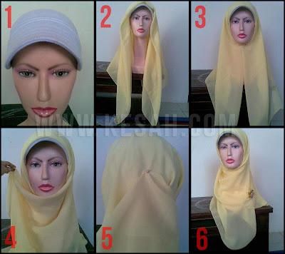 Cara Memakai Jilbab Segi Empat | Kesah.Com
