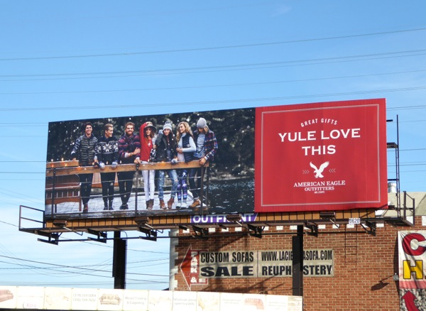 American Eagle Outfitters Yule Love This billboard