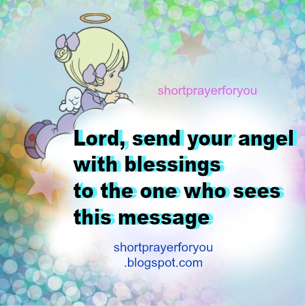 short prayer blessings, angel with blessings to you