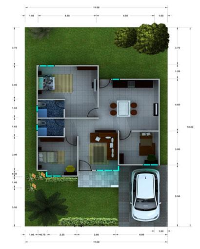 Gambar Desain Rumah Mungil Minimalis