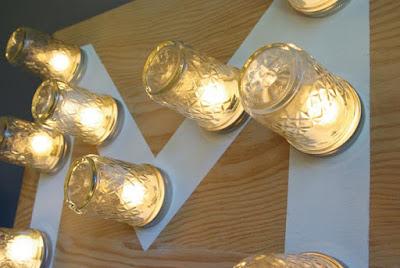 Schöne Dekoration in der Einrichtung: Leuchtendes Monogramm zum Selbermachen