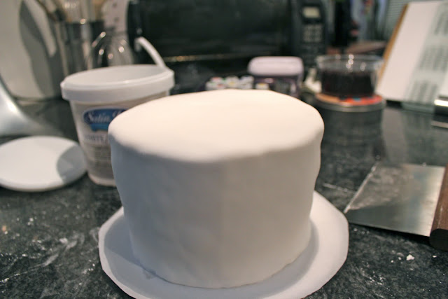 Fondant-covered cake