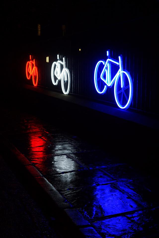 Hello Freckles Durham Lumiere Neon Bikes