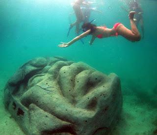 parque submarino maya en Honduras