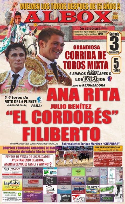 ALBOX (ESPAÑA) 03-11-2018. CORRIDA MIXTA.