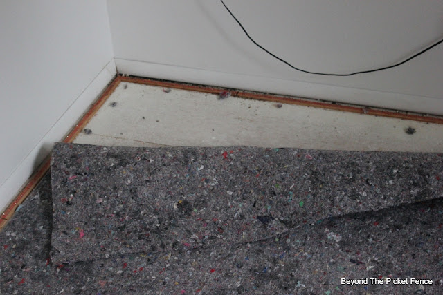 carpet removal, tools, remodel DIY, http://bec4-beyondthepicketfence.blogspot.com/2015/07/attic-room-renovation-how-to-remove.html