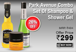 Dhamaal : Park Avenue Combo || Shampoo, Hair & Shower Gel for Rs 299 || 15% extra off for ICICI, HDFC, AXIS bank with minimum Rs. 499 and Rs 750  free  welcome Voucher for new customer