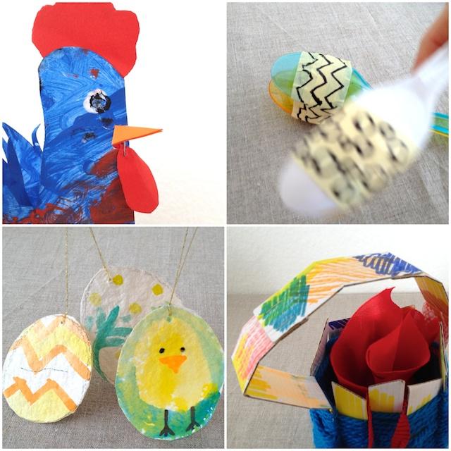 schaeresteipapier ostern basteln mit kleinen kindern zusammen