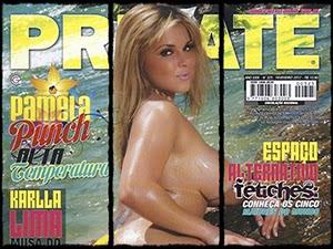 Pamela Punch Pelada Na Revista Private Fevereiro 2012