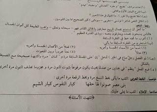 تجميع امتحانات اللغة العربية سادس ابتدائي ترم ثاني 2015 لجميع الادارات التعليمية في جميع محافظات مصر 11221540_824036197689036_890924270056484972_n