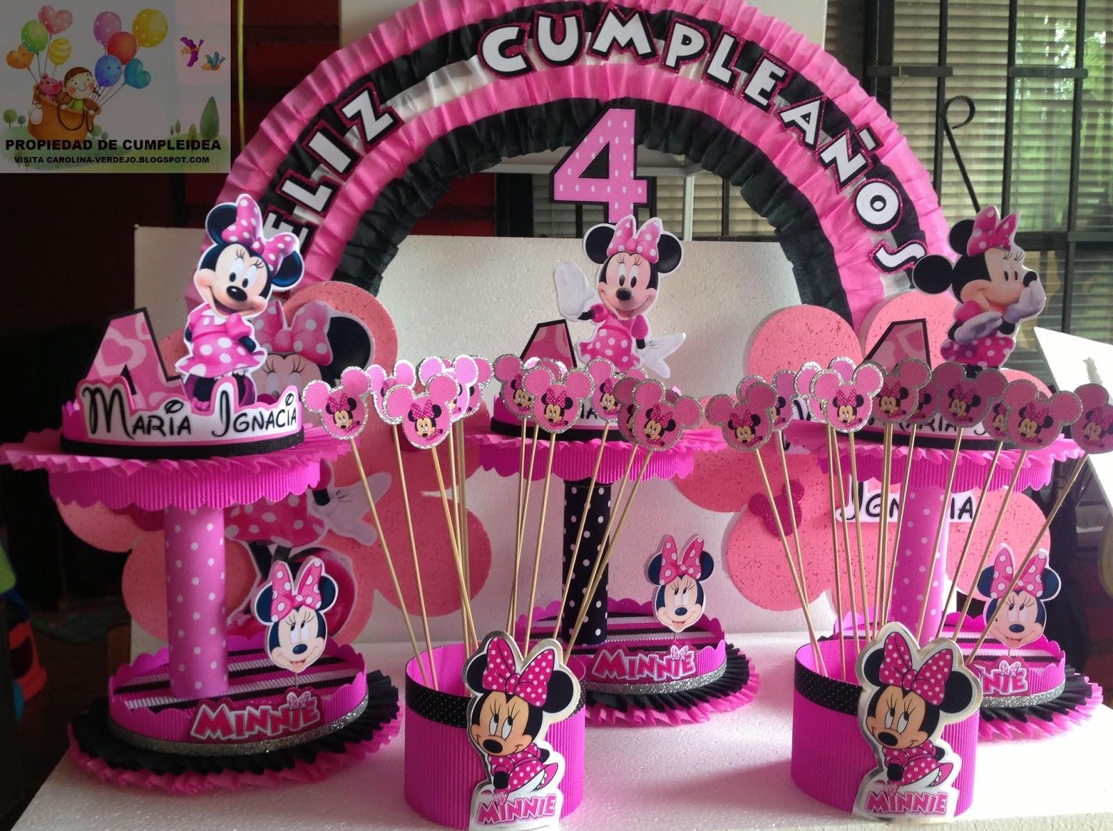 Decoracion Minnie Mouse ~ Pin Decoracion Minnie Mouse Recuerdos Cotillones Mercadolibre Ajilbab