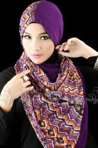 Nuhijab SSB Tribal - Purple (Toko Jilbab dan Busana Muslimah Terbaru)