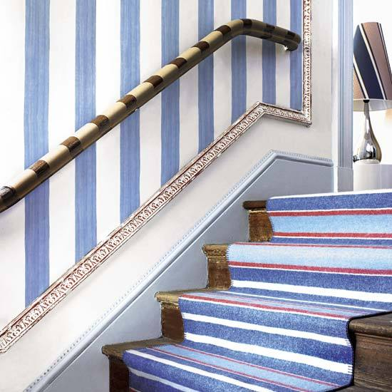 Decorating A Staircase Ideas Inspiration: Walls: Wallpaper Inspiration...Stairs And Stairwells