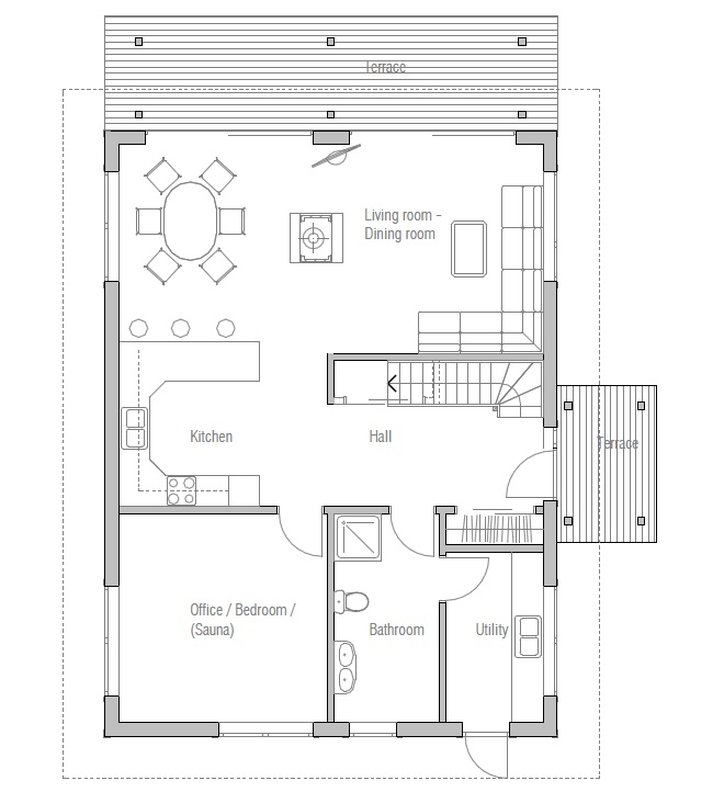 Affordable home plans affordable house plan ch20 for Affordable cabin plans