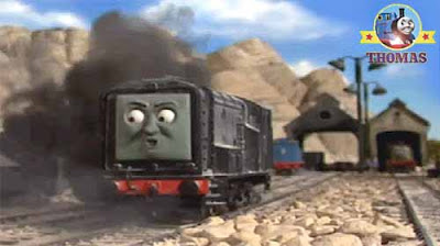 Thomas and his friends Diesel train was showing off swiftly travel over these hillside rail lines