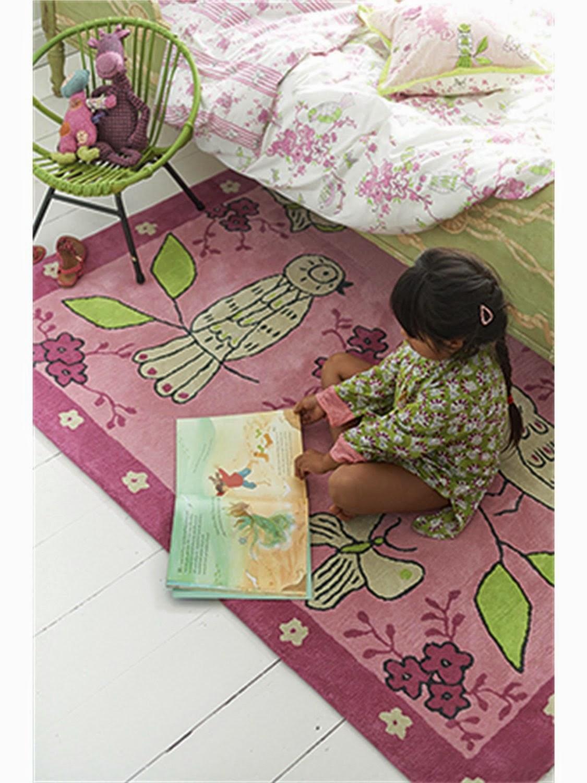 Alfombra infantil apple blossom rosa designers guild kids for Alfombra bano infantil