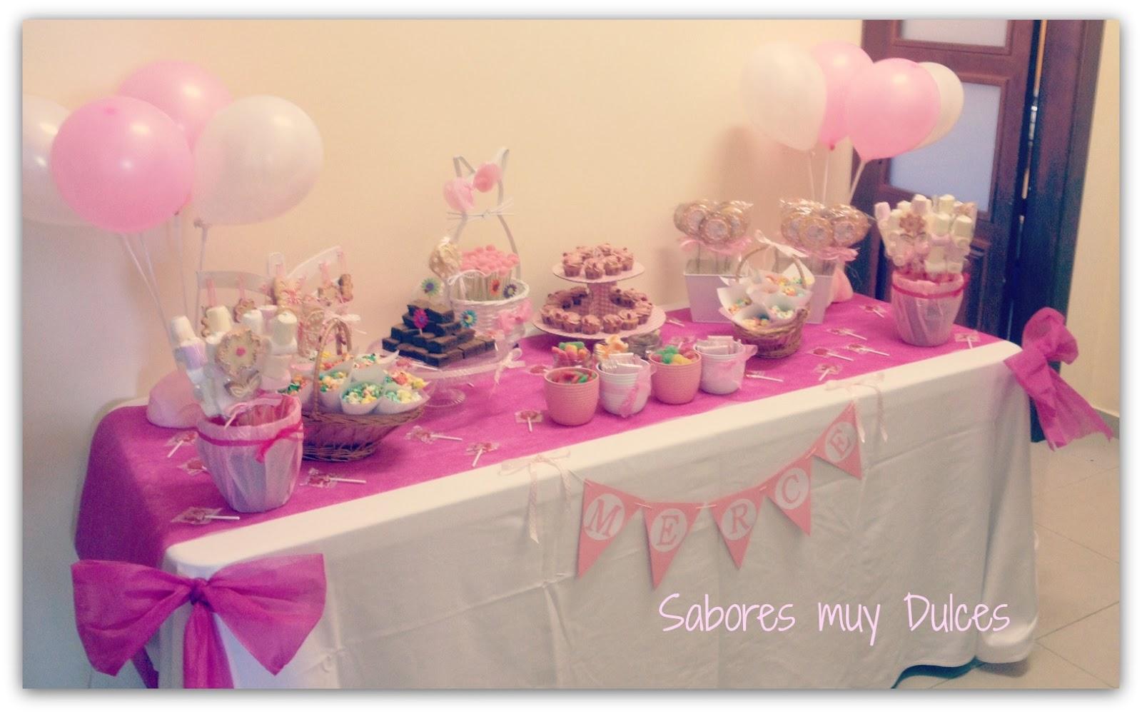 Sabores muy dulces mesa dulce de ni a para comuni n - Mesas para comuniones ...