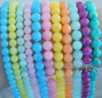 Eye candy: pastel dyed jade strands :: All Pretty Things