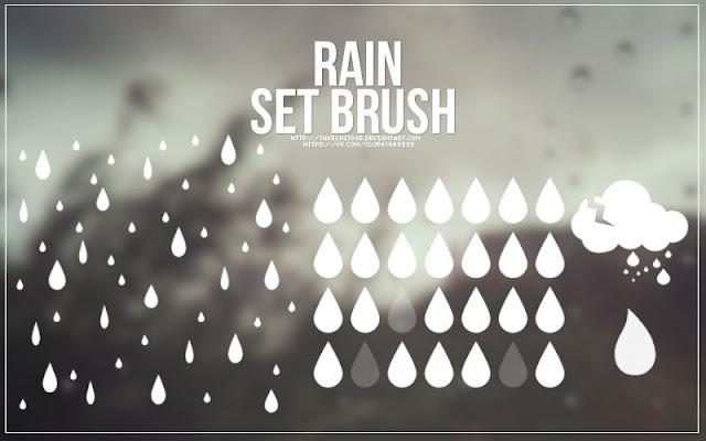 Rain Photoshop Brush Set
