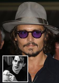 Johnny Depp Tattoo Removed