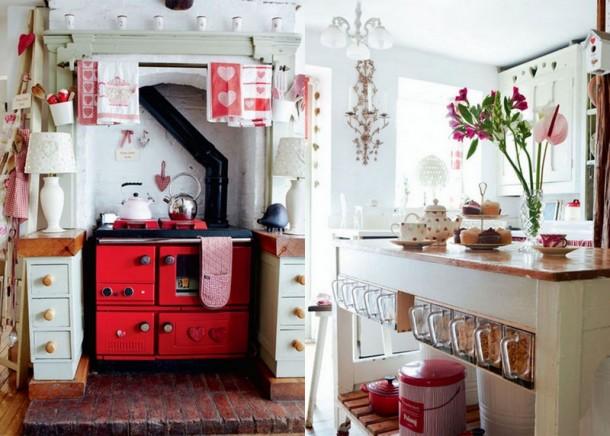 D co cuisine retro rouge for Cuisine retro rouge