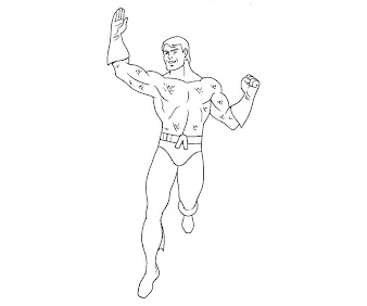 #11 Aquaman Coloring Page