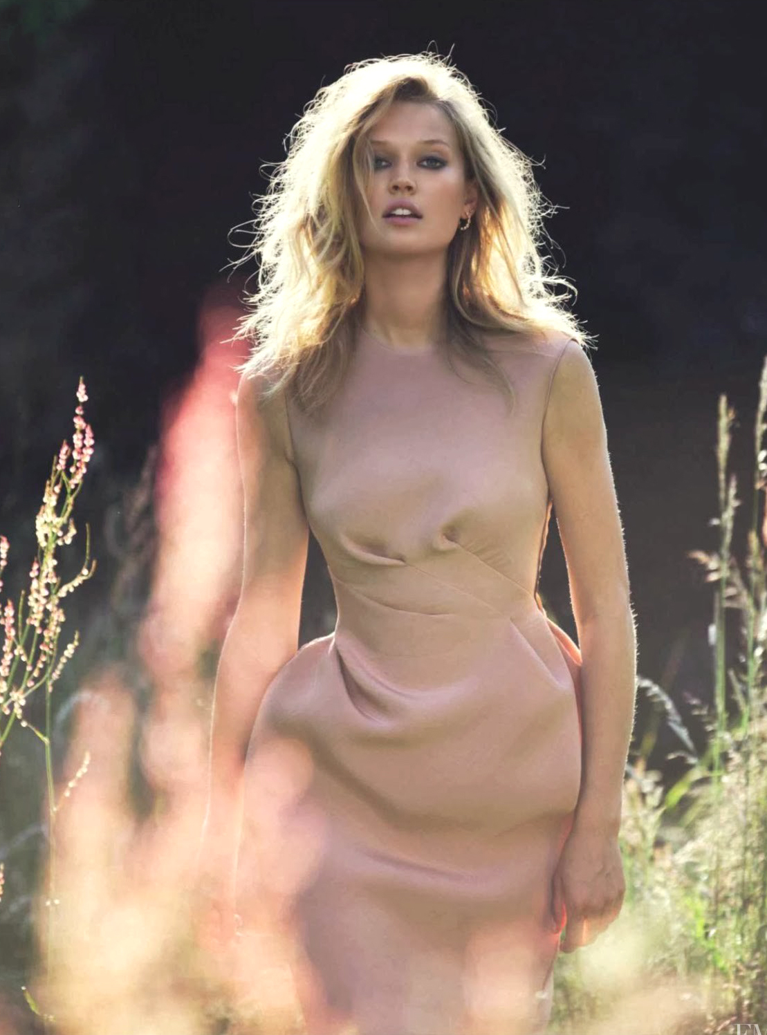 Toni Garrn in Lanvin by Alber Elbaz dress in Vogue Spain October 2013 (photography: David Bellemere) via www.fashionedbylove.co.uk