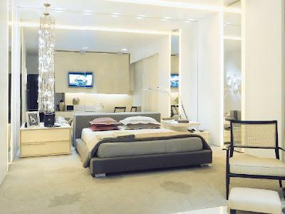 cuarto con paredes elegantes