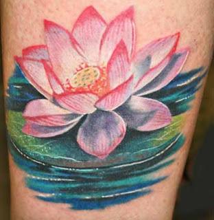 Lotus flower tattoo design 6 destro design for Fish vagina tattoo