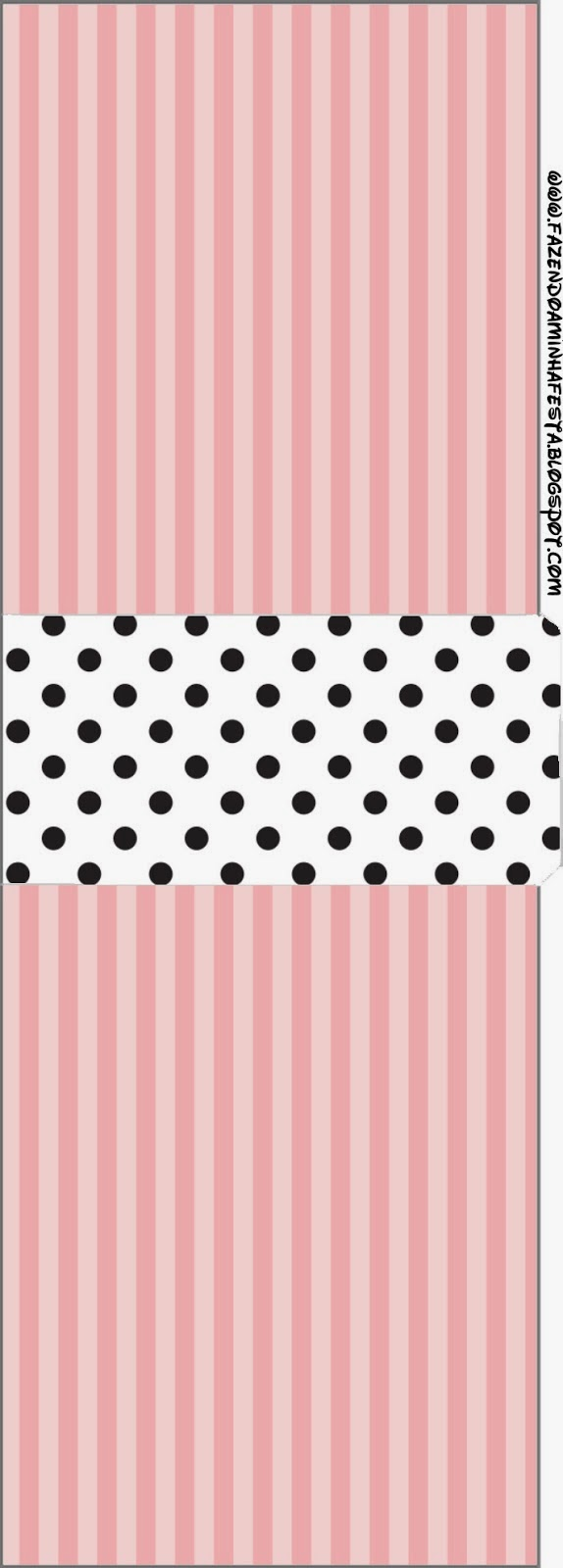 pink white and black stripes and polka dots free printable candy