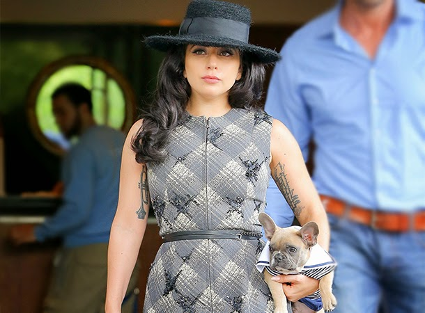 Lady Gaga Leaves Her Apartment Building in NYC