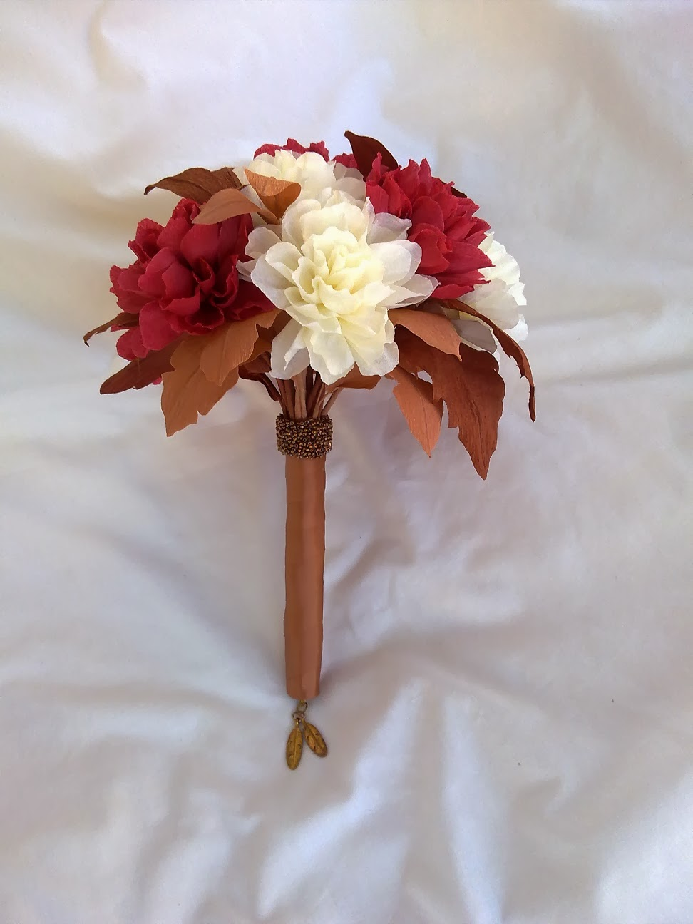 Crafty little beanut autumn paper flower wedding bouquet you can find more photos of this bouquet on my facebook page link below if you like my flowers please like my facebook page thank you the paper blooms izmirmasajfo