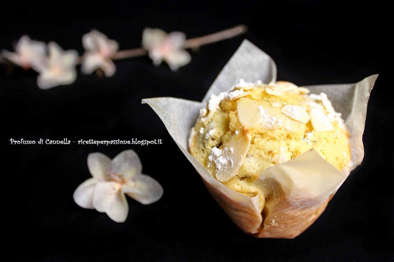 muffin alle mandorle con prugne secche e profumo di mandarino - delicata carezza